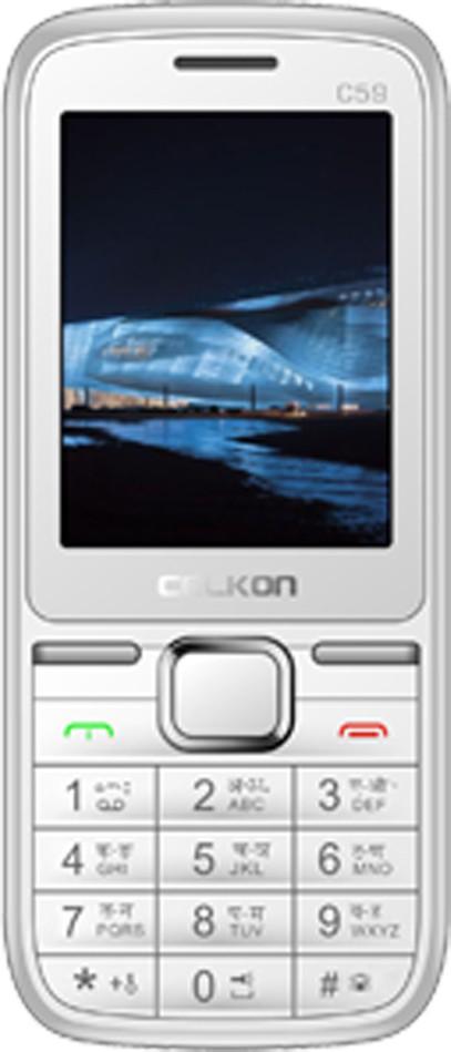 Celkon C59(White & Silver)