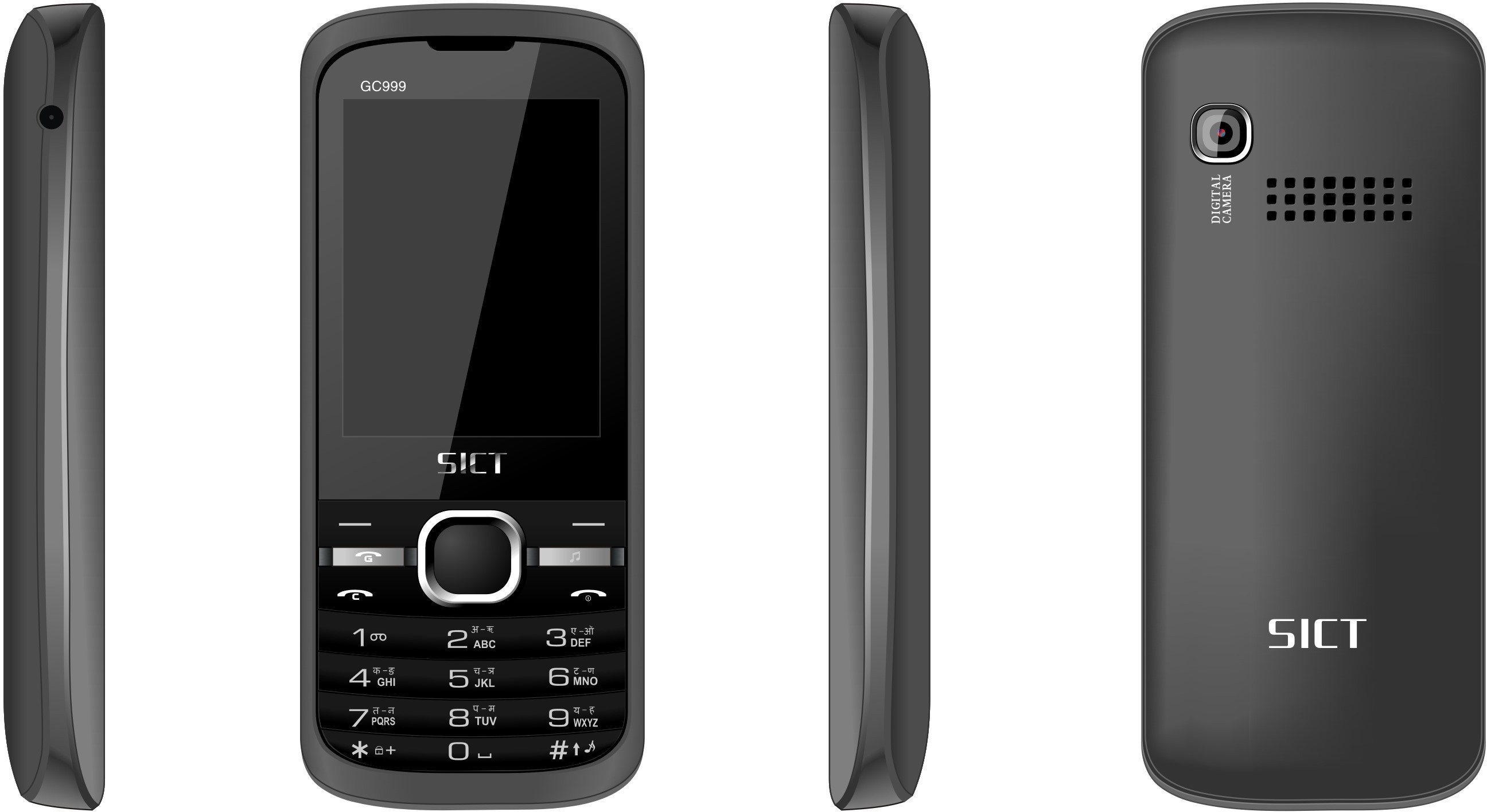 SICT GC999 GSM+CDMA (ALL SIM WORKING)(Black+Grey)
