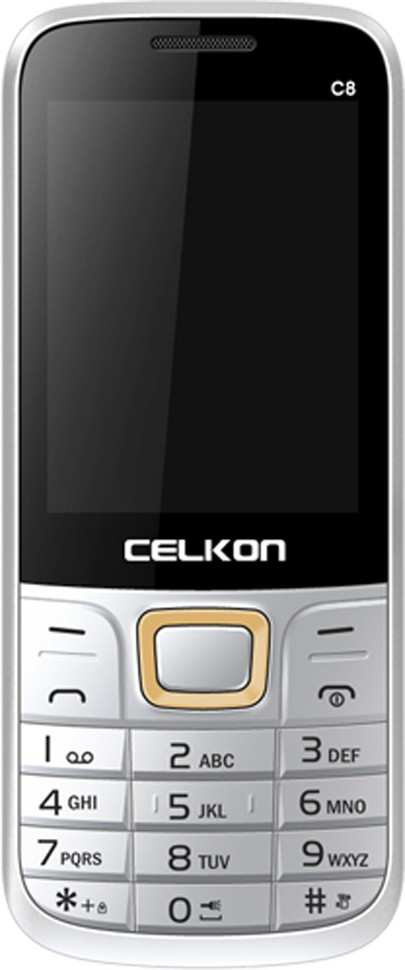Celkon C8(White & Gold)