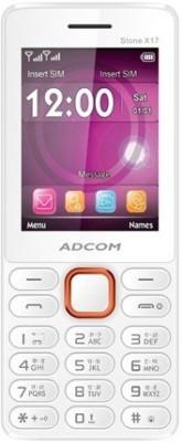 Adcom X17 (TRENDY) Dual Sim Mobile-White & Orange (White, Orange, 32 MB)
