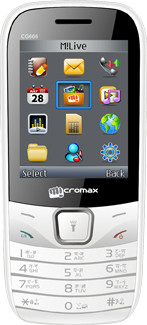 Micromax GC666(White & Grey)