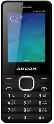 Adcom X20 (POWER XL) Dual Sim Mobile (Black, 34 MB)