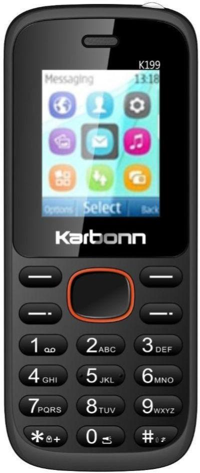 Karbonn K199(Orange & Black)
