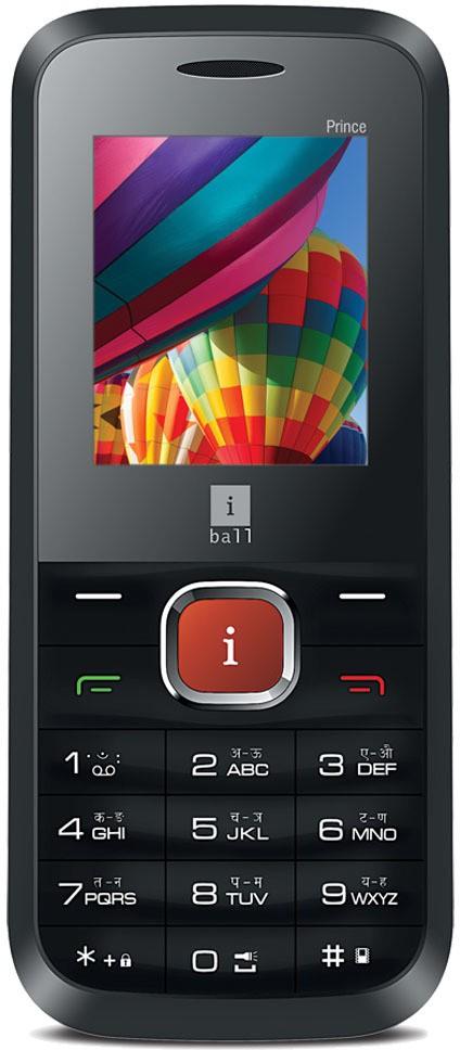 iBall Prince 1.8G Dual Sim(Black, Orange)