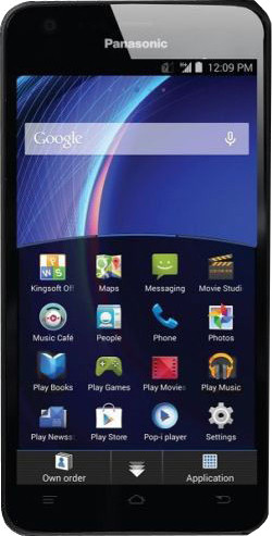 Panasonic Eluga U (Black, 16 GB)(2 GB RAM)