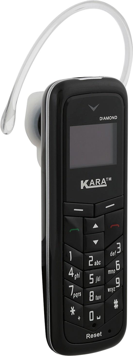 Kara Diamond (Mini Phone Cum Bluetooth Headset)(Black)