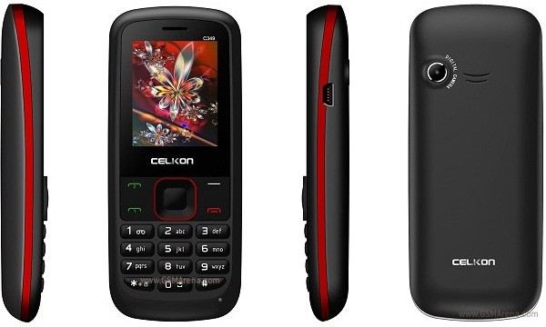 Celkon C-349(Black & Red)
