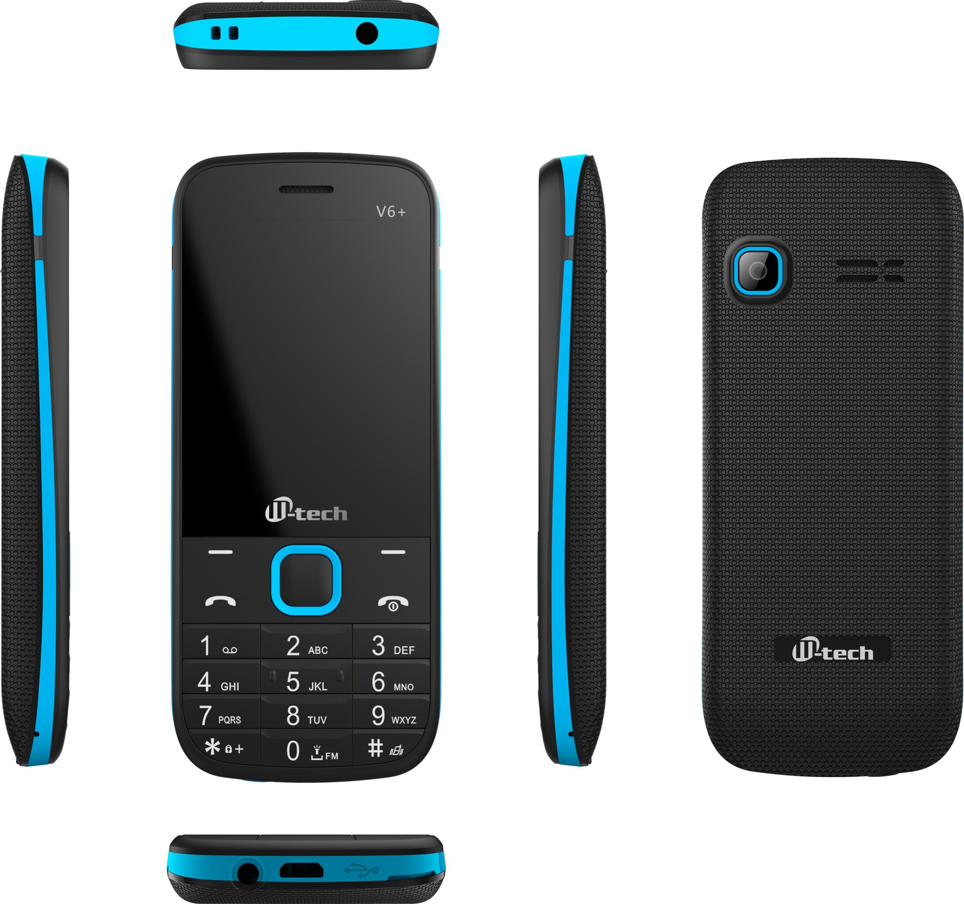 M-tech L6+(Black, Blue)