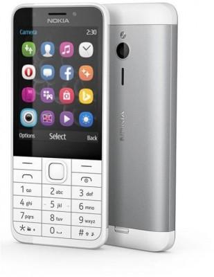 Nokia 230 (Silver White, 256 MB)
