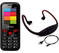 I Kall K16 with MP3 FM Player Neckband(Black & Red)