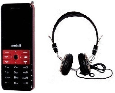 Mobell MOBELL M235 with Envent Headphone (Red, Black, )