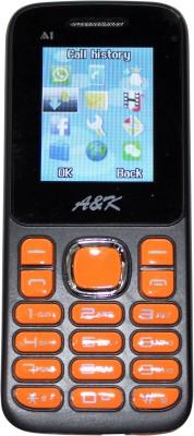 A&K Bar Phone A 1(Black, Orange)
