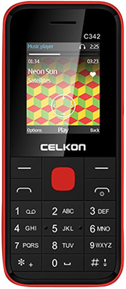 Celkon Dual Sim - Black & Red