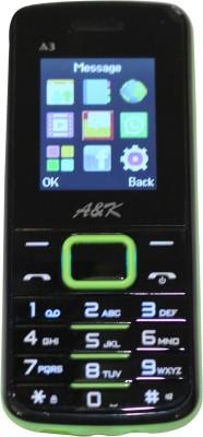 A&K Bar Phone A 3 (Black, Green, 32 KB)