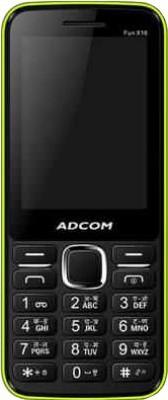 Adcom X16 (Fun) Dual Sim Mobile-Black & Green (Black, Green, 34 MB)