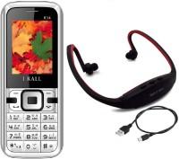 I Kall K14 with MP3 FM Player Neckband(Black & White)