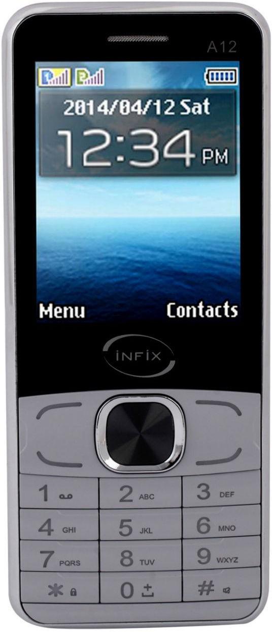Infix A-12 Dual Sim Multimedia 2.4 Inches(Grey)
