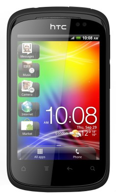 HTC Explorer A310E (Metallic Black, 90 MB)