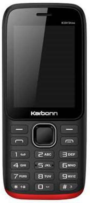 Karbonn K334 Shine(Black/Red)