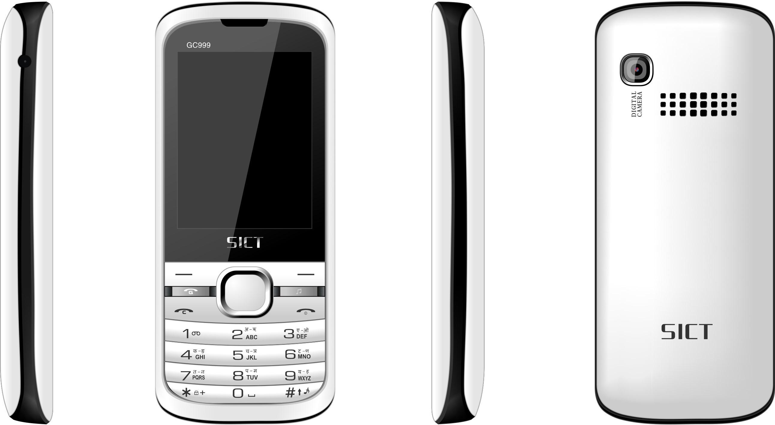 SICT GC999 GSM+CDMA (ALL SIM WORKING)(White+Blue)