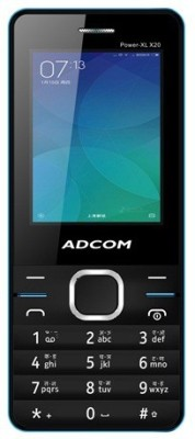 Adcom X20 (POWER XL) Dual Sim Mobile- Black & Blue (Black, Blue, 32 MB)