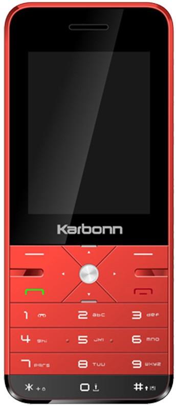 Karbonn K Phone 9 Dual Sim - Red & Black(Red)