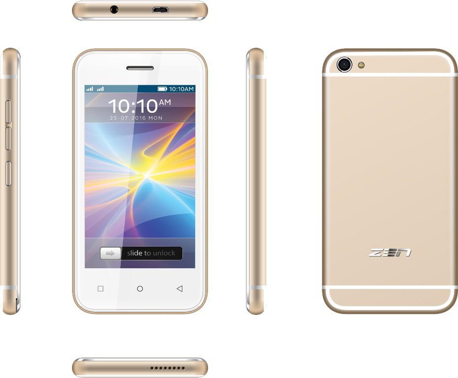 Zen Flair (Champagne Golden, 8 GB)(1 GB RAM)