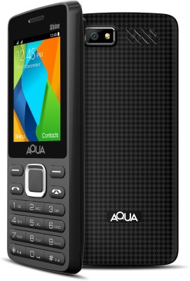 Aqua Shine - Dual SIM Basic Mobile Phone (Black, 32 MB)