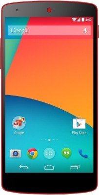 Nexus 5 (Red, 32 GB)(2 GB RAM) at flipkart