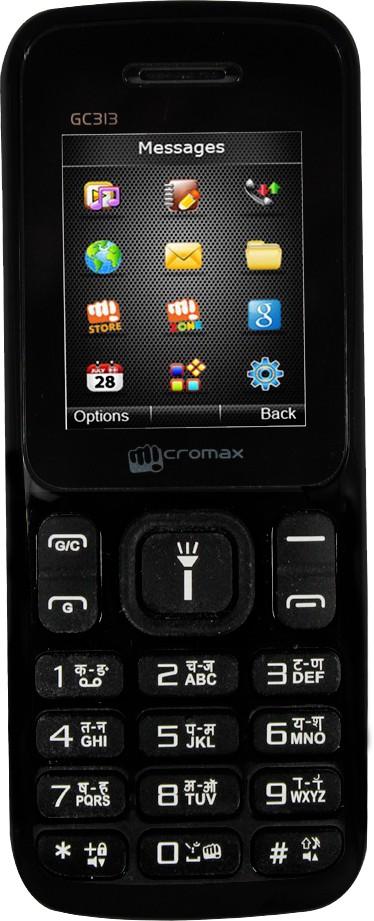 Micromax GC313 BLACK GSM+CDMA(Black)