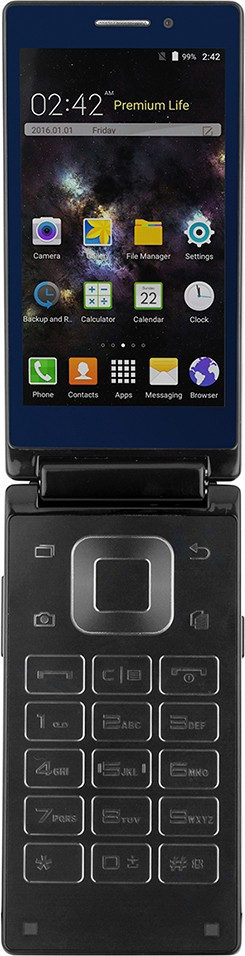 View Kara T2 Android Dual Screen Flip Phone (Blue, 8 GB)(2 GB RAM) Mobile Price Online(Kara)