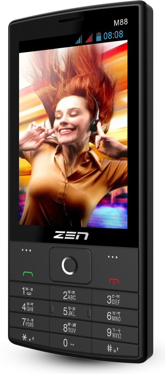 Zen M88 BIG display feature phone(Black)