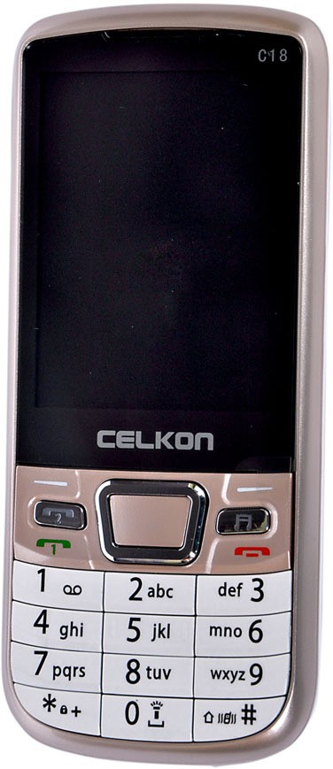 Celkon C-18(Golden, White)