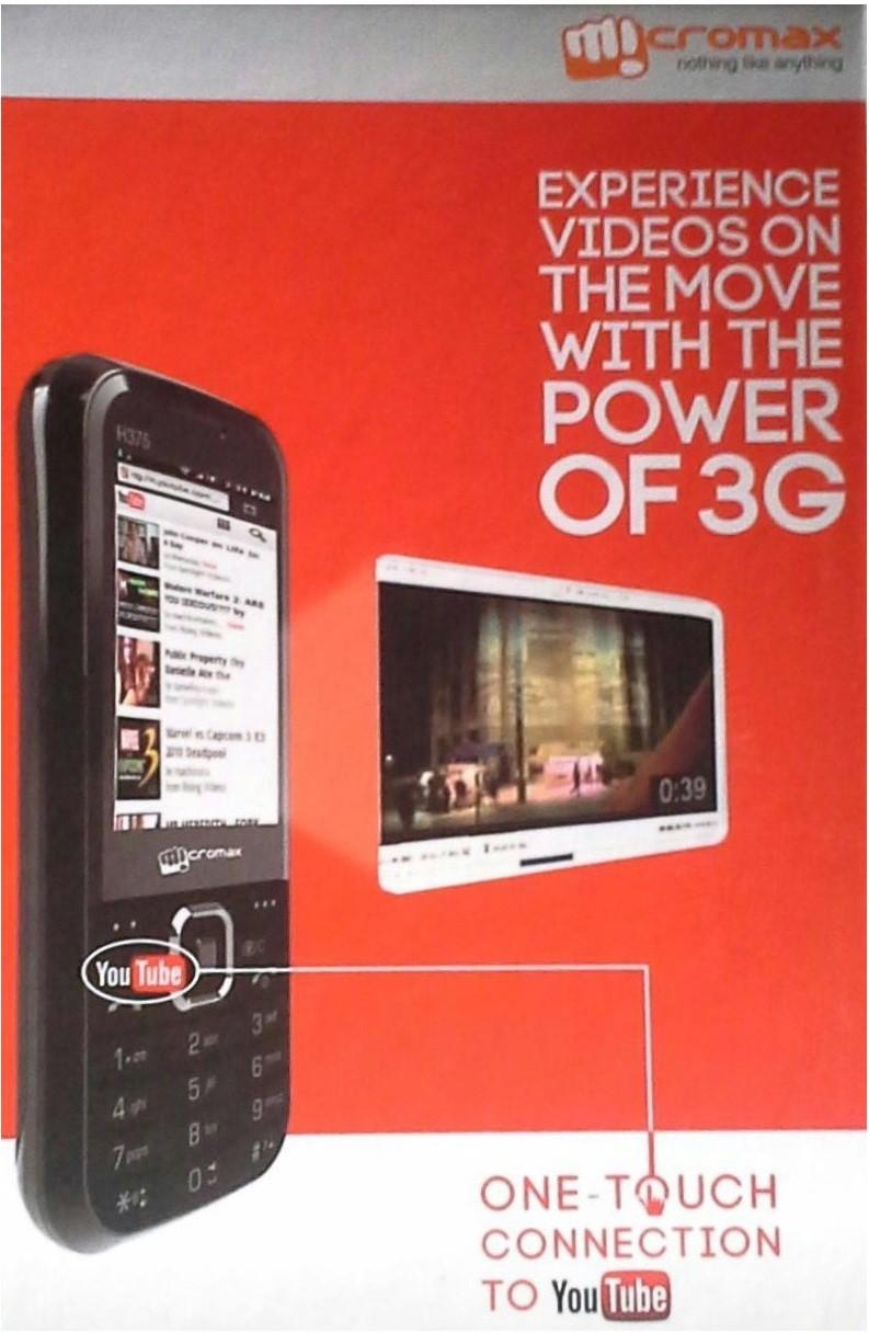 Micromax H375 3G(Black)