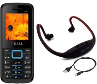 I Kall K88 with MP3 FM Player Neckband(Black & Blue)