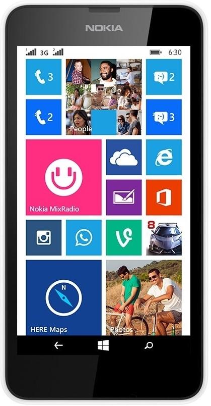 Nokia Lumia 630 Dual Sim (White, 8 GB)(512 MB RAM)