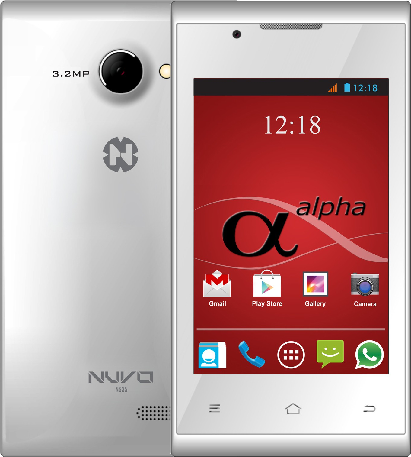 Nuvo Alpha NS35 4GB (White, 4 GB)(512 MB RAM)