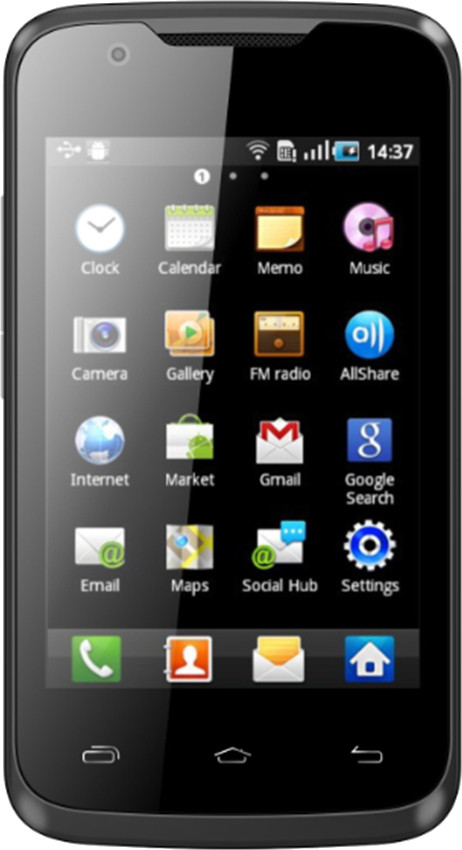Karbonn A5 Turbo (Black and Silver, 512 MB)(256 MB RAM)