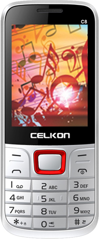 Celkon C8(White & Red)