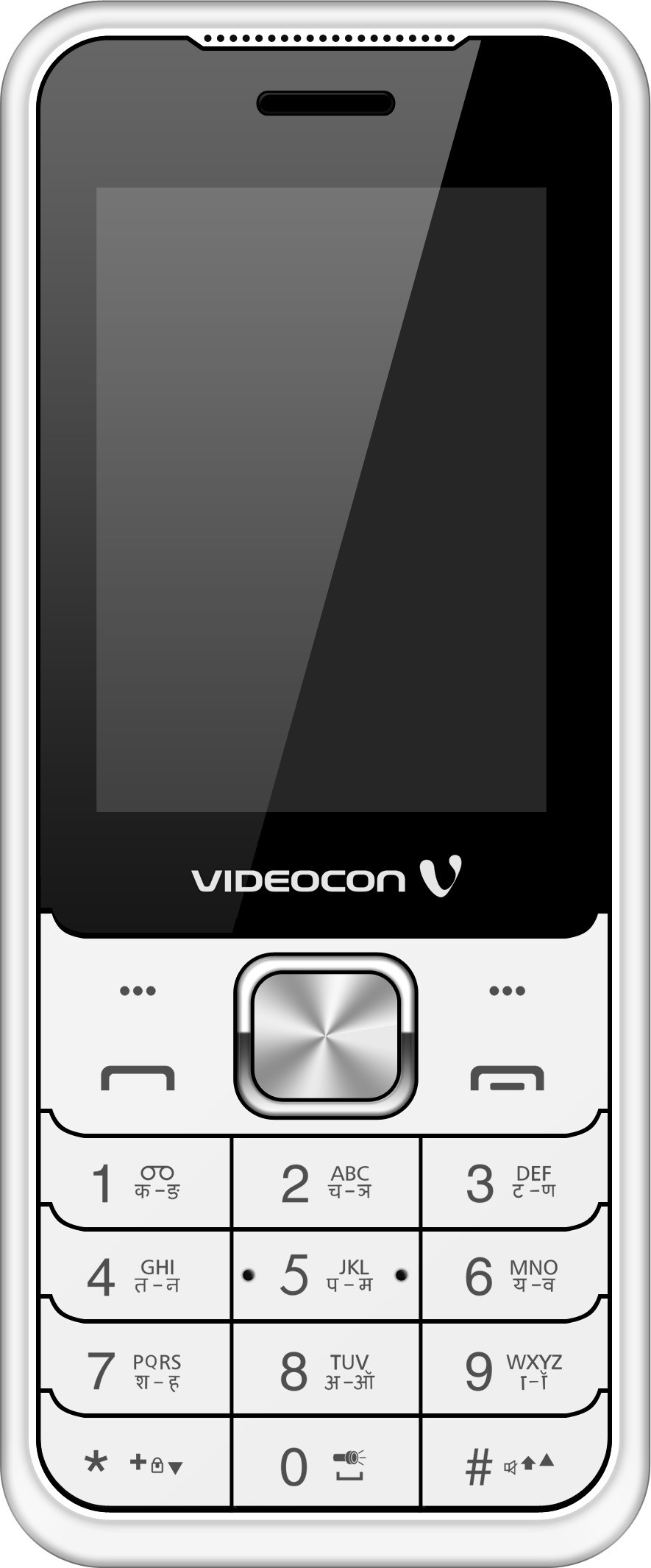 Videocon V2FA3-1(White & Chrome Silver)