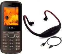 I Kall K88 with MP3 FM Player Neckband(Brown)