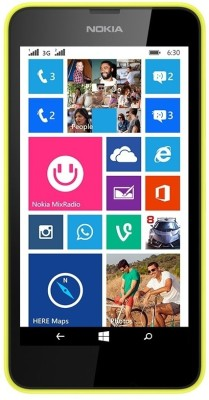 Nokia Lumia 630 Dual Sim (Bright Yellow, 8 GB)