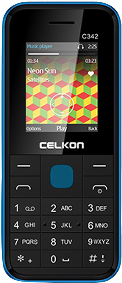 Celkon Dual Sim - Black & Blue