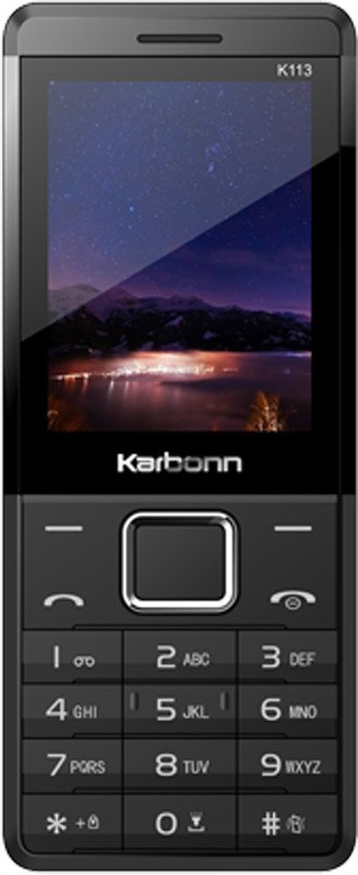 Karbonn K113 Plus Dual Sim - Black & Red(Black)