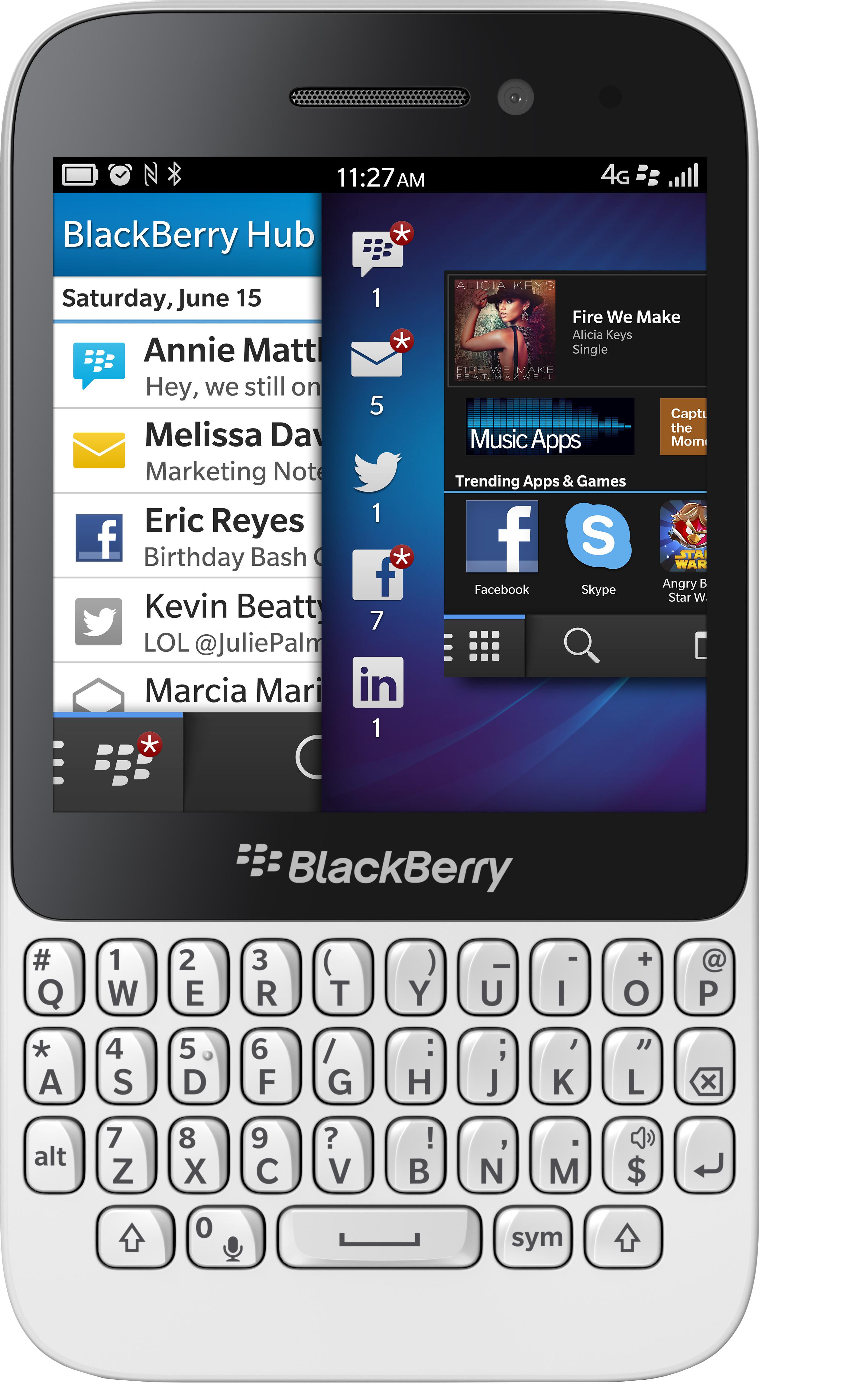 Blackberry Q5 (White, 8 GB)(2 GB RAM)