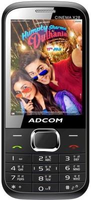 Adcom X28 (CINEMA) Dual Sim Mobile- Black (Black, 32 MB)