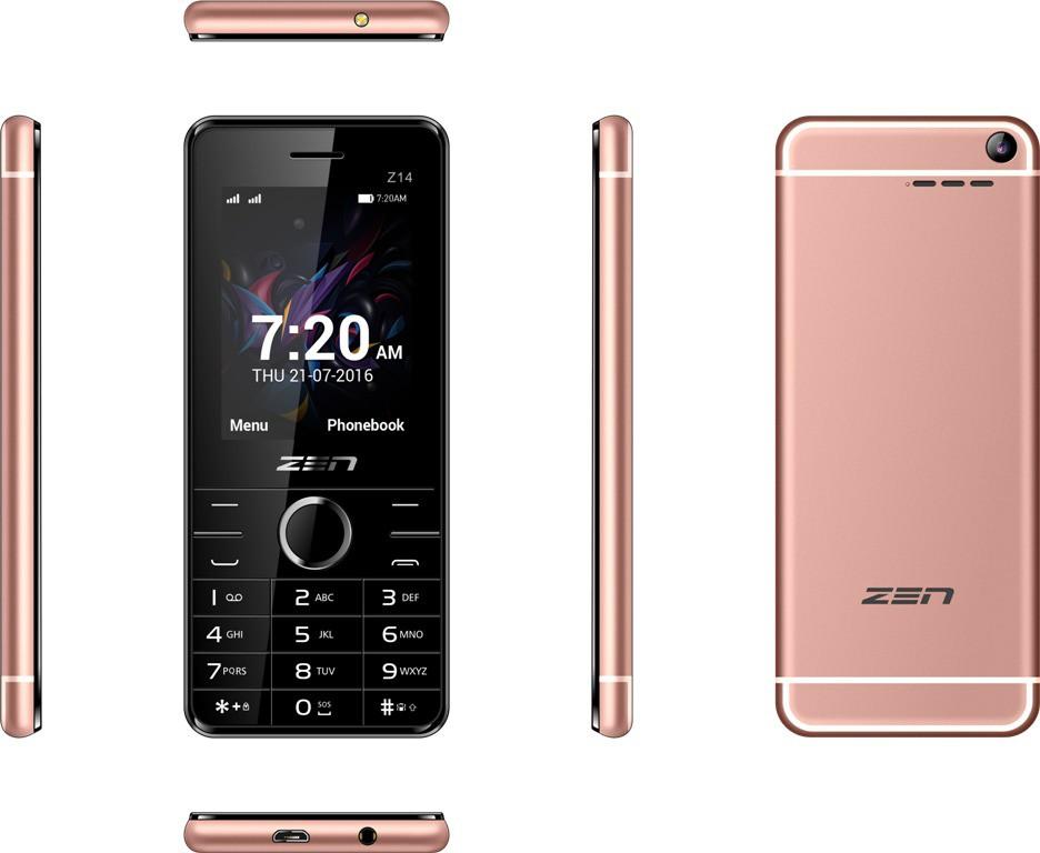 Zen Z14 Flaunt(Rose Gold)