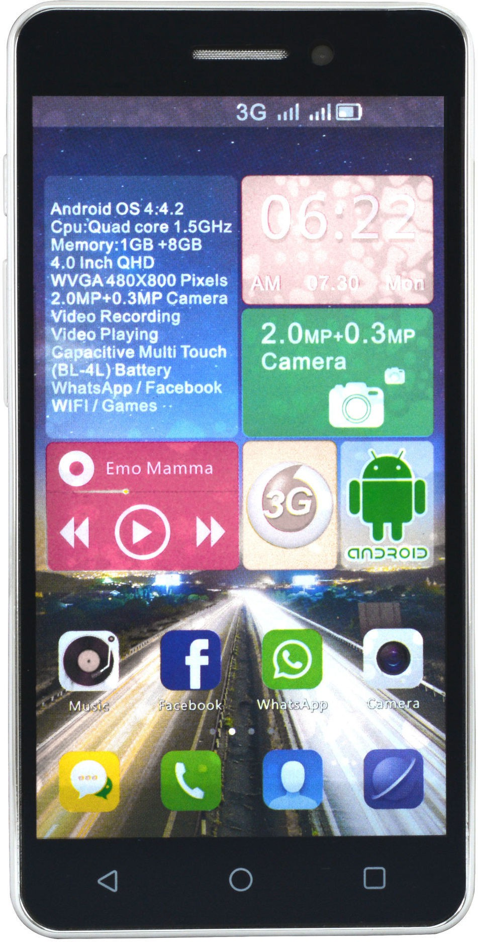 Camerii CM50Maroon-Ginger Android (Maroon, 256 MB)