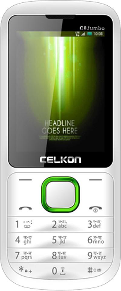 Celkon C8 Jumbo(White & Green)