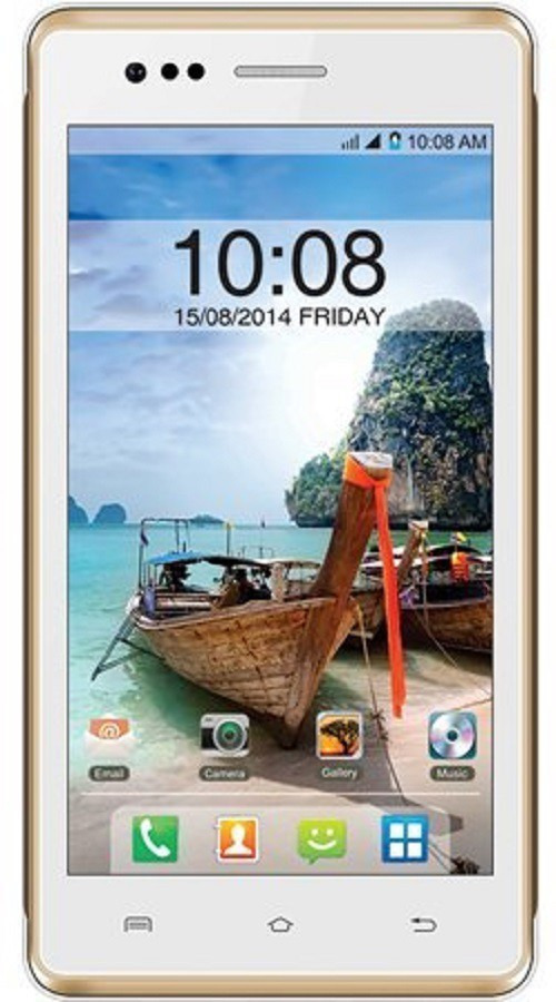 Intex Aqua 4.5E (White & Champagne, 4 GB)(512 MB RAM)